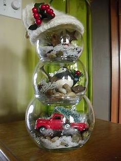 Image result for fish bowl snowman