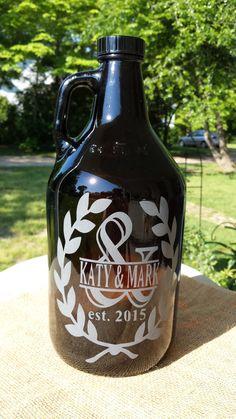 Engraved  Ampersand beer growler custom by 800ChestnutStreet