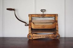 Antique Lovell Clothes Wringer Early 1900s Iron and Wood Hand