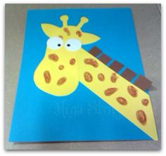 Zoo Crafts for Toddlers | Eventually I will try get a template on here for the giraffe if anyone ...
