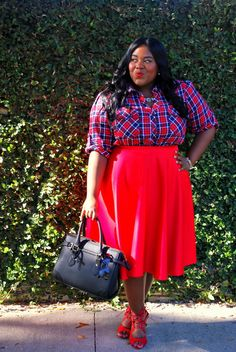 musings of a curvy lady: brawny Curvy Women Fashion, Plus Size Fashion, Fashion Fashion, Fashion Outfits, Fashion Ideas, Plaid Outfits, Fall Outfits, Dope Outfits, Plus Size Dresses
