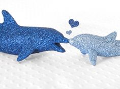 Glitter Dolphins Nautical Critter Table Decoration by wishdaisy, $45.00