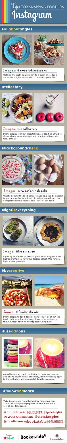 Tips For Snapping Food On Instagram #infographic
