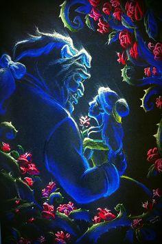 Fan Art Friday: Beauty and the Beast by techgnotic on DeviantArt Disney Belle, Walt Disney, Disney Dream, Disney Love, Disney Magic, Disney And Dreamworks, Disney Pixar, Princesa Disney Jasmine, Fera Disney