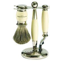 Edwin Jagger Diffusion Range 3 Piece Shaving Set Ivory