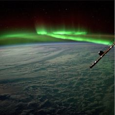 NASA astronaut Steve Swanson took this amazing view of the northern lights from the International Space Station in July 2014.