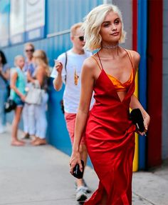 sarah ellen fashion week vestido vermelho