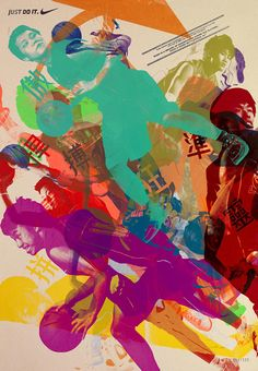 Design Lion Grand Prix winning call-for-entry posters for the annual Nike Basketball League Competition in Hong Kong. The creative team Mccann Hong Kong literally translated the spirit of competition onto the posters. 350 posters were handmade by the players. Images of the top 10 players, each representing a unique skill were turned into printing templates. Then they were invited to a silkscreen workshop to print their image on top of each other.