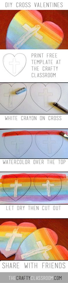DIY Cross Valentines - this would be a great one to involve your own kids for sending love to your sponsored child