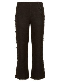 Button-down leg tweed trousers   Proenza Schouler   MATCHESFASHION.COM