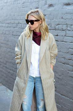 4ca1b2006cd5 Reformation coat, Celine sunglasses, J.Z. Richards scarf Celine, Dusters,  Personal Style,