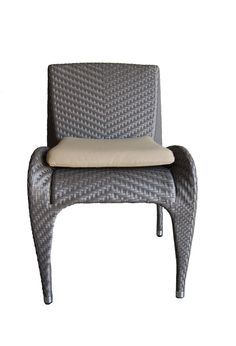 100Essentials Rivage Dining Chair, Taupe. Powder coated aluminum frames are strong and resist corrosion, Woven entirely by hand. Seat Cushions are made with high density foam; The cushion is soft, comfortable, permeable and breathable, washable. Taupe Color. Sun proof 180 Sand. Virtually maintenance free; For regular maintenance simply wash the product with soap and water.