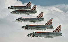"""british-eevee: """" English Electric Lightning jet fighters in formation """""""