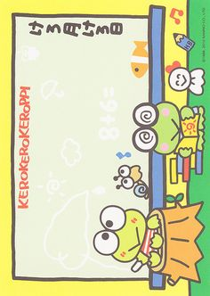 Sanrio Keroppi Memo (2012) | crazysugarbunny | Flickr Keroppi Wallpaper, Hello Kitty Pictures, Presentation Design Template, Cute Notes, Kawaii Stationery, Sanrio Characters, Little Twin Stars, Note Paper, Printable Paper