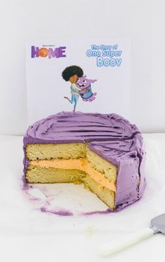 This Home inspired cake looks delicious! Great idea for a kid's birthday party!