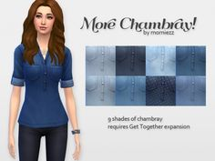 Chambray shirts by morniezz at Mod The Sims via Sims 4 Updates