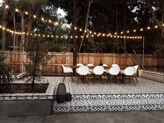 Get inspired by Bohemian Outdoor Design photo by Room Ideas. AllModern lets you find the designer products in the photo and get ideas from thousands of other Bohemian Outdoor Design photos. Backyard Patio Designs, Backyard Landscaping, Backyard Ideas, Backyard Chairs, Landscaping Ideas, Patio Tiles, Outdoor Tiles Patio, Design Jardin, Backyard Lighting