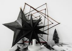 Black stars for Christmas #christmas #decoration