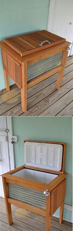 DIY Patio Cooler Stand Project Idea, DIY Old Fridge Ideas And Projects