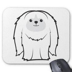 Pekingese Dog Cartoon Mouse Pad