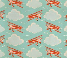 @Heather Gunnell flying ace fabric by cheyanne_sammons on Spoonflower - custom fabric.. this would be cute for Sean