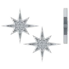 .16ctw Starburst Diamond Earrings in 14k White Gold ($399) ❤ liked on Polyvore featuring jewelry, earrings, white gold jewelry, white gold diamond earrings, 14 karat gold earrings, diamond star earrings and white gold jewellery