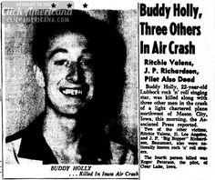 Buddy Holly & three others killed in air crash (1959)