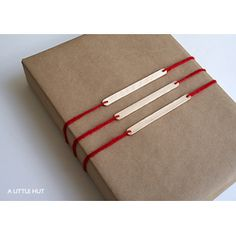 Popsicle Sticks Gift Tags  #Christmas #Gift #Wrapping