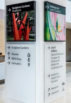 Baltimore Museum of Art Signs and Wayfinding