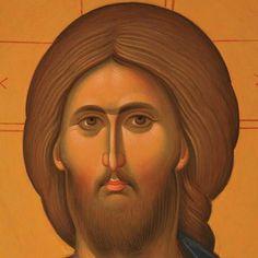 Amazing sacred art - Jesus Christ painting Byzantine Icons, Byzantine Art, Religious Icons, Religious Art, Jesus Christ Painting, Christ Pantocrator, Greek Icons, Russian Icons, Orthodox Icons