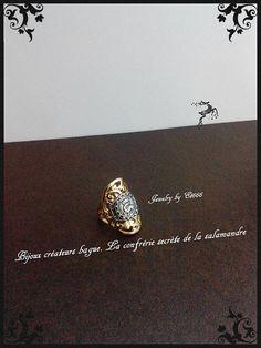 Bijoux créateurs bague. La confrérie secrète de la salamandre