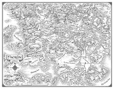 The wonderful linework of Mike Schley as an end-sheet of Faerun.