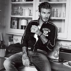 We're not 100% sure whether @DavidBeckham is drinking a cup of #RalphsCoffee, but we do know this: the shirt, jacket, and jeans are all #PoloRalphLauren Spring '16. Looking sharp, Becks! @GQ April