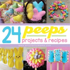 Just PLEASE for the love of God and all that is holy, do NOT make a peeps wreath. I beg of you.   24 Peeps Projects & Recipes at artsyfartsymama.com