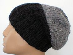We have added another color block hat to our collection of slouchy hats or ribbed brimmed beanies....