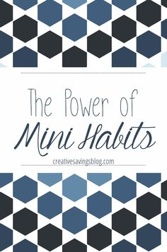 Have a tendency to set goals that are too hard, too complicated, and too overwhelming? You will love the idea of Mini Habits! This is the BEST way to make significant changes in your life if you want lasting results and longterm success.
