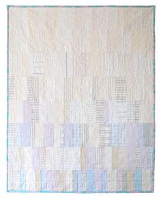 modern quilt - soft plaids.  Love this idea.  Maybe start with slightly deeper plaids and fade to whites.