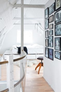 bedroom with a gallery