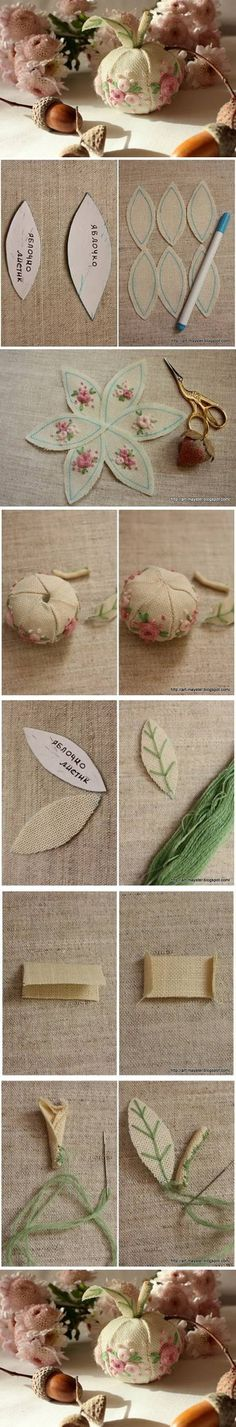 DIY Fabric Apple Decor DIY Projects | UsefulDIY.com Follow Us on Facebook ==> http://www.facebook.com/UsefulDiy
