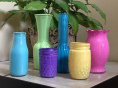 Hand painted glassware  Vases   Mason Jars by Deborahsdesignndecor, $6.00