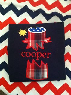 Fourth of July shirt design!    www.facebook.com/TNTembroidery