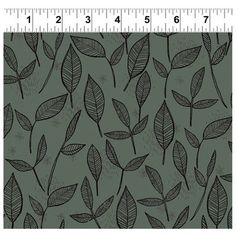 Arriving July 2015 - Lady Bug Blooms - Grey Leaves -  Floral Fabric - Fabric Collection By Clothworks