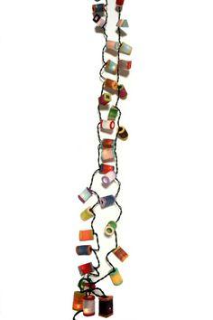 """Guirlande lumineuse """"Lanternes"""" en papier de mûrier - 35 lampes - Guirlandes lumineuses / Lanternes en papier de mûrier - Asia Zen Shop"""
