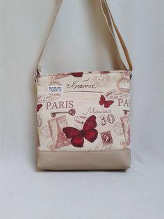 Pillangók és  Párizs!!! Minden itt van ezen a táskán 2d48471262