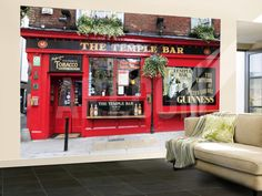 The Temple Bar Pub in Temple Bar Area Wall Mural by Eoin Clarke at Art.com