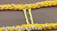 Sheruknittingcom: How to Make Thicker Twisted Bride Tutorial 50 Part 2 of 9