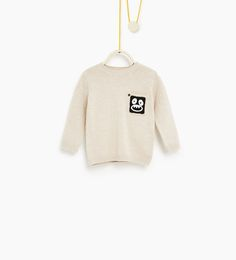 Image 1 of Sweater with pocket appliqué from Zara