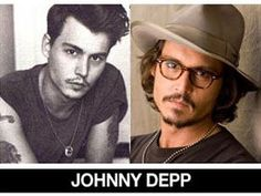 Beautiful World : Celebrities Then and Now/Jonny Depp has always been CUTE! Celebrities Then And Now, Boy Celebrities, Beautiful Celebrities, Beautiful Men, Beautiful People, Celebs, Celebrity Pictures, Celebrity News, Young Johnny Depp