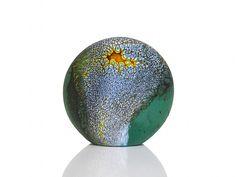 Deep Blue Green Stone by David Royce (Art Glass Paperweight) | Artful Home