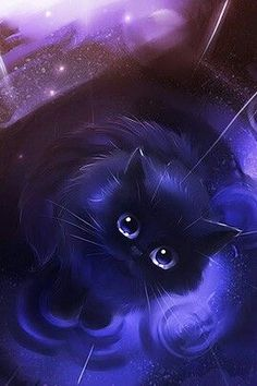 Follow Me Trashy Senpai Cat Drawing Painting Animal Paintings Anime Animals